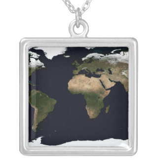 Global image of our world silver plated necklace
