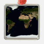 Global image of the world ornament