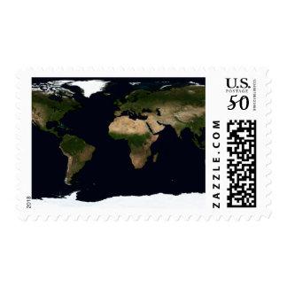 Global image of the world postage