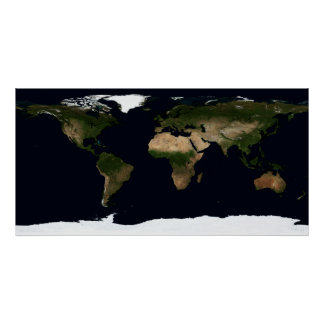 Global image of the world poster