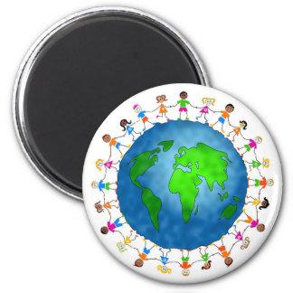 Global Kids 2 Inch Round Magnet