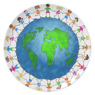 Global Kids Melamine Plate