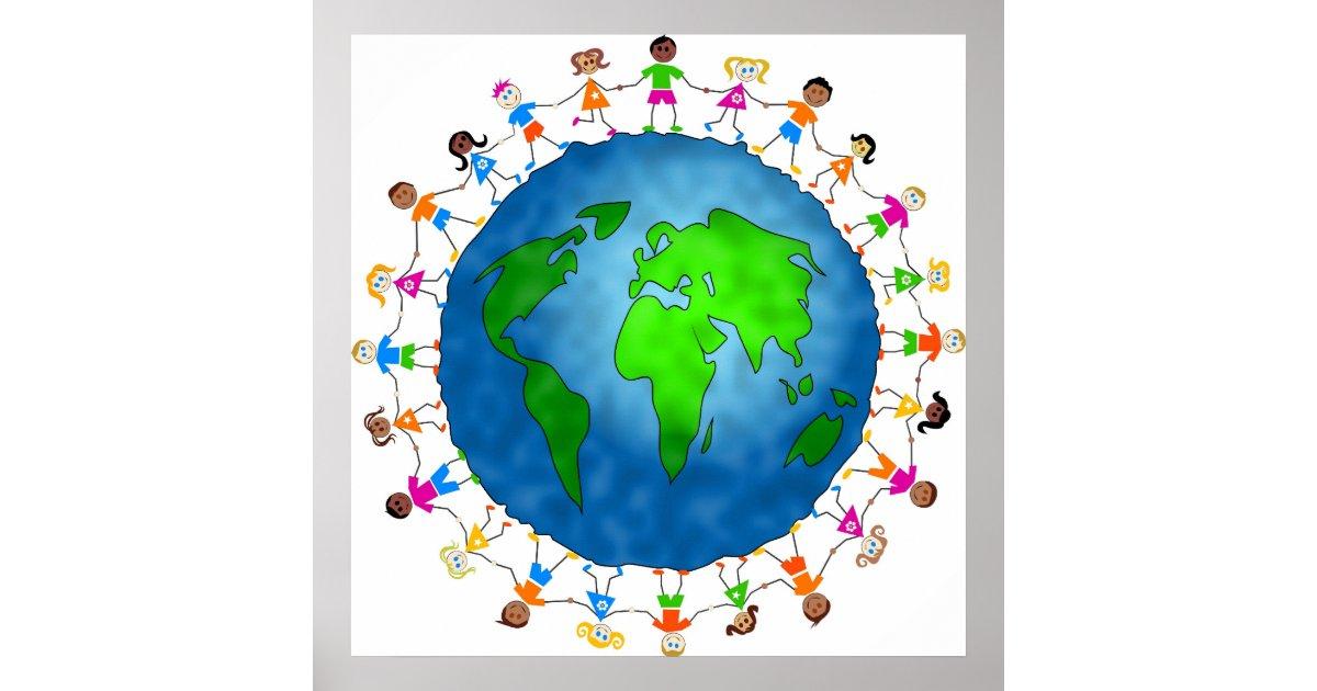 Global Kids Poster Zazzle Com