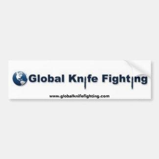 Global Knife Fighting Bumper Sticker