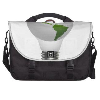 Global lamp laptop commuter bag
