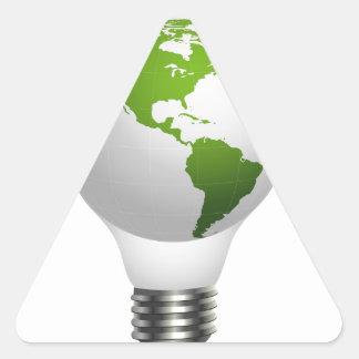 Global lamp triangle sticker