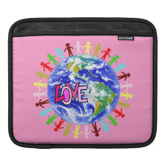 Global Love Holding Hands iPad Sleeves