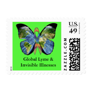 Global Lyme and Invisible Illnesses Postage Stamp