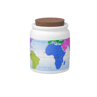 Global Map 2 Candy Dish