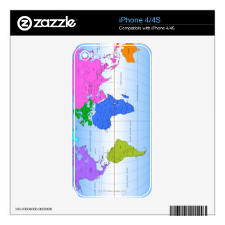 Global Map 2 Decal For iPhone 4