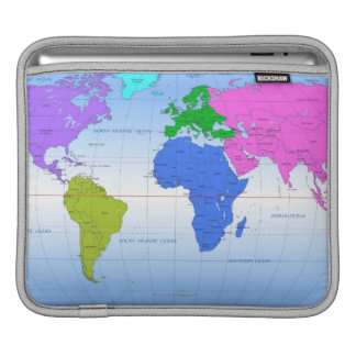 Global Map 2 Sleeve For iPads