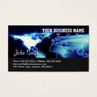 Global Map business card