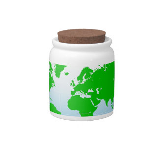 Global Map Candy Dishes