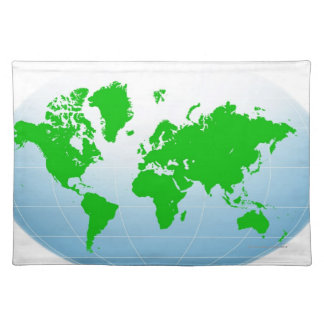 Global Map Cloth Placemat
