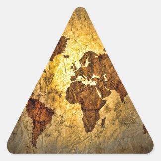 Global Map Cute Triangle Sticker