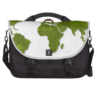 global map green on white graphic pattern laptop bags