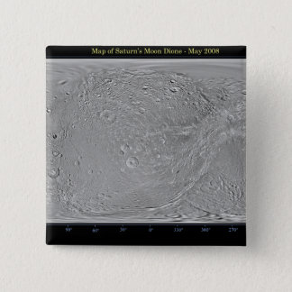 Global map of Saturn's moon Dione Pinback Button