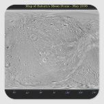 Global map of Saturn's moon Dione Square Sticker