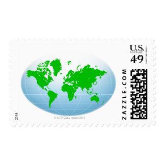 Global Map Postage