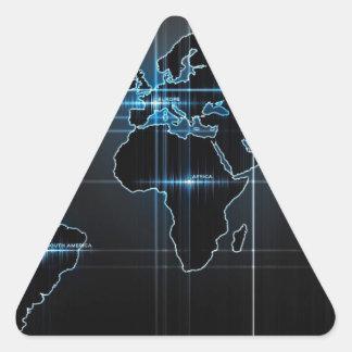 Global Map Triangle Sticker
