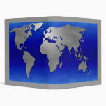 Global Map Vinyl Binder