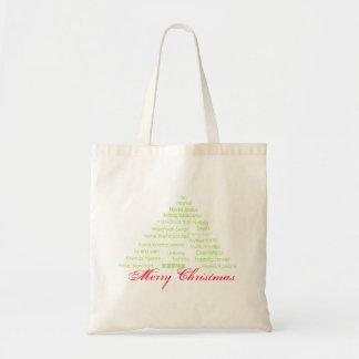 Global Merry Christmas Tree Tote Bag