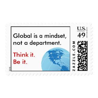 Global Mindset Postage Stamp