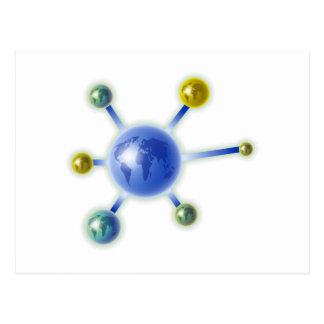 Global Molecule Postcard