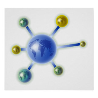 Global Molecule Poster