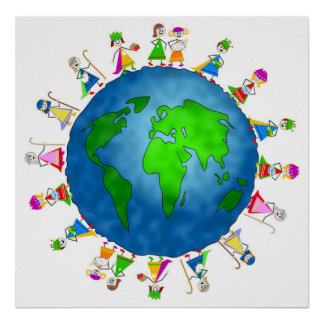 Global Nativity Kids Print