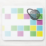 Global Neon Block Mouse Pad