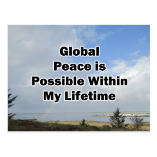 global peace is possible postcard