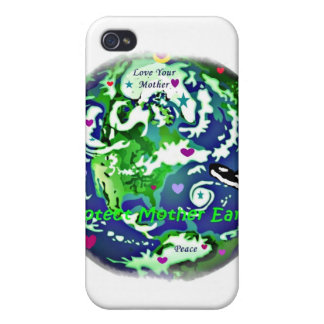 global peace protect mother earth i phone case iPhone 4 covers