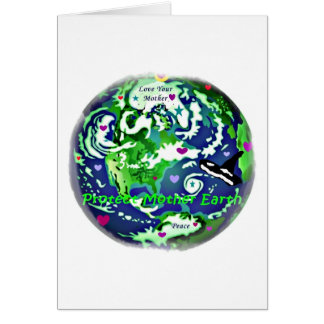 global peace protect mother earth notecards stationery note card