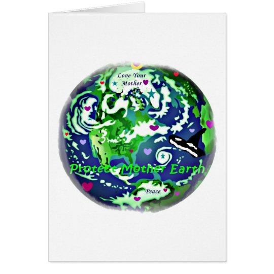 global peace protect mother earth notecards card