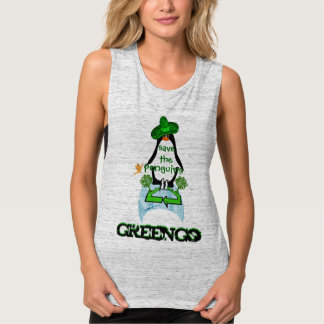 Global Penguin, GreenGo Save the Penguins Tank Top