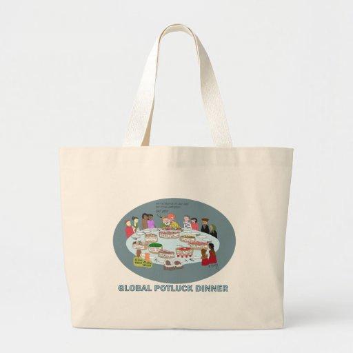 GLOBAL POTLUCK DINNER JUMBO TOTE BAG