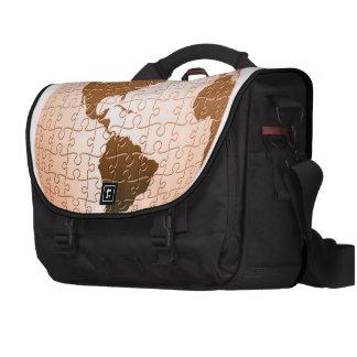Global Puzzle Laptop Bag