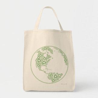 Global recicle la bolsa de asas orgánica