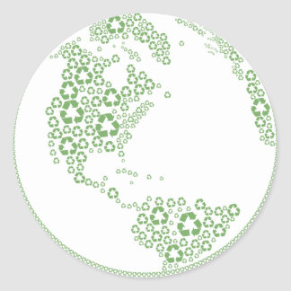 Global Recycle Classic Round Sticker