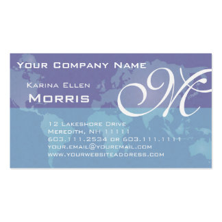 Global Sales and Marketing Blue World Map Business Card Templates