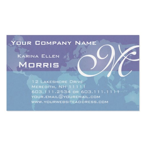 Custom Card Template advertising cards templates : Global Sales and Marketing Blue World Map Business Card Templates