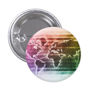 Global Science Research Project as a Concept 1 Inch Round Button