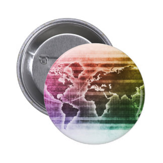 Global Science Research Project as a Concept 2 Inch Round Button
