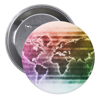 Global Science Research Project as a Concept 3 Inch Round Button