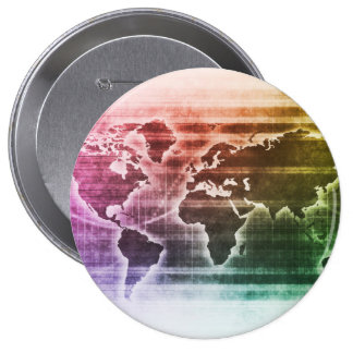 Global Science Research Project as a Concept 4 Inch Round Button