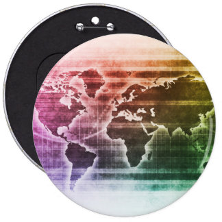 Global Science Research Project as a Concept 6 Inch Round Button