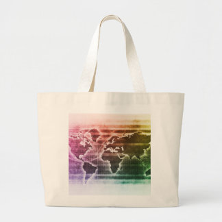 Global Science Research Project as a Concept Large Tote Bag