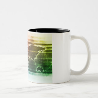 Global Science Research Project as a Concept Two-Tone Coffee Mug