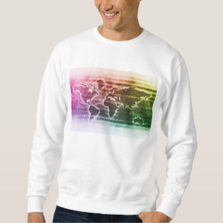 Global Science Research Project as a Concept Pullover Sweatshirt